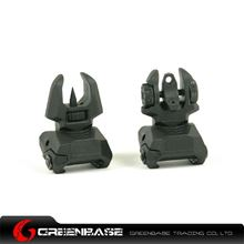 Picture of Unmark F type Polymer Front & Rear Folding Sights Black GTA1026