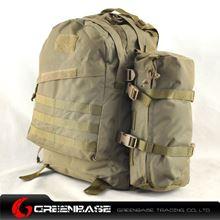 图片 900D 3D Field Outdoor Tactical Rucksack Backpack Bag Khaki GB10170