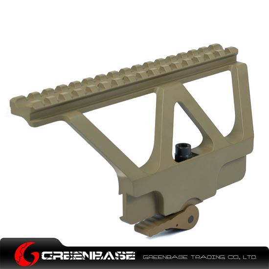 Picture of CNC AK47/74 Side Rail Scope Mount Unmark Dark Earth GTA1130