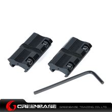 """Picture of NB Airsoft Pistol 2pcs Scope Rail Adapter 3/8"""" Dovetail to Weaver Black NGA1279"""
