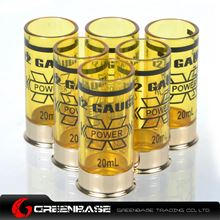 Picture of GB 12 Gauge 20ml Shotgun Shell Shot Glasses Set of Six Yellow NGA1298