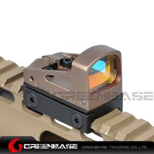 Picture of GB RMS Reflex Mini Red Dot Sight With Vented Mount and Spacers For Airsoft Glock Pistol Aluminium Dark Earth NGA1324