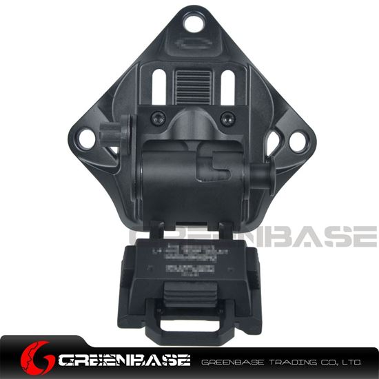 Picture of GB L4 G19 Fast Helmet Mount NVG Bump Mount Adjustable Height Lightweight Black NGA1351
