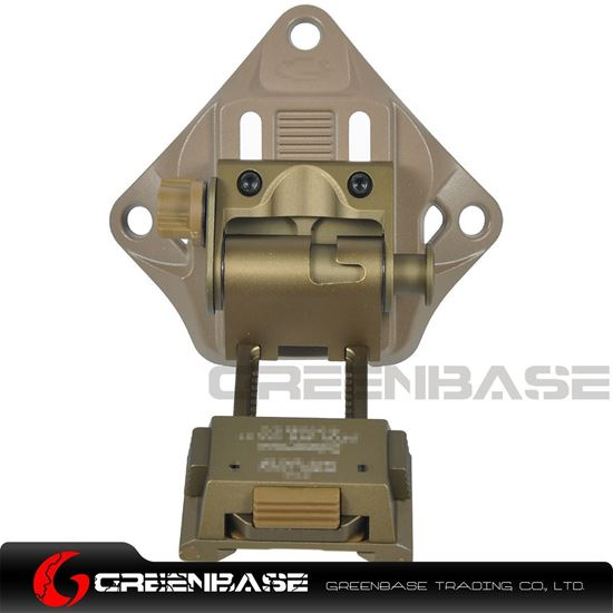 Picture of GB L4 G19 Fast Helmet Mount NVG Bump Mount Adjustable Height Lightweight Dark Earth NGA1352