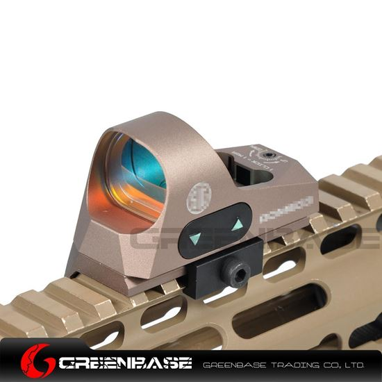 Picture of GB 1x25 Mini Reflex Sights 1 MOA Adjustments 3 MOA Dot Reticle Red Dot Sight With 1913 Mount/QD Mount Dark Earth NGA1359