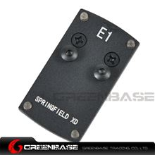 Picture of NB Mini Red Dot Sight Mounting Plate For Springfield XD Black NGA1392