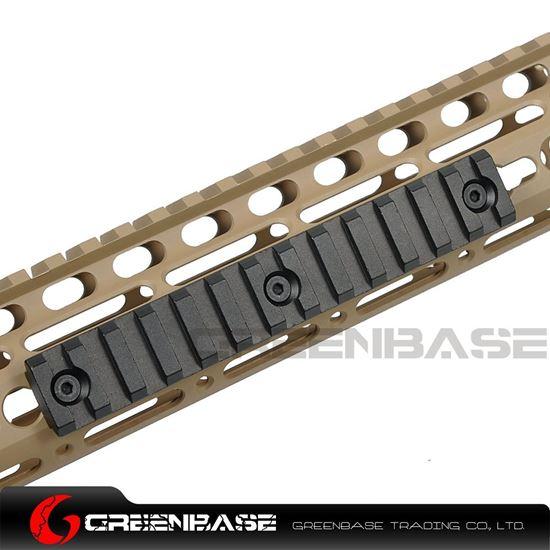 Picture of NB 13 Slots Keymod Rail Mount Base 135mm Picatinny Weaver Rail For Keymod Handguard System Black NGA1443